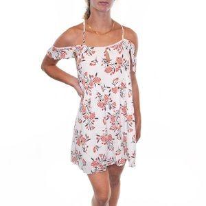 ETIQUETTE Off The Shoulder Floral Mini Dress #Y20